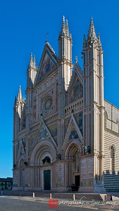 The facade of the Cathedral of Orvieto