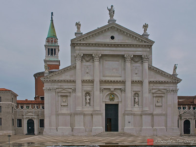 The facade of the Church of San Giorgio Maggiore, Venice, Italy
