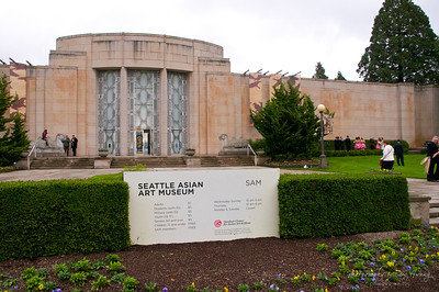Outside the Seattle Asian Art Museum