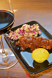 Food and wine: Zinfandel with BBQ ribs, slaw and cornbread muffin