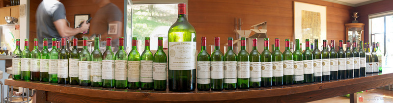 Panorama of dead soldiers at Aaron Pott's Cheval Blanc party in Napa Valley, California, USA.